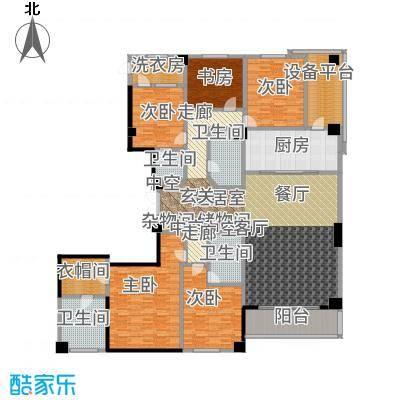 绿城黄浦湾5A户型5室4卫1厨