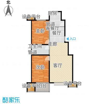 瀛嘉汇90.00㎡二期住宅房源B1户型2室2厅