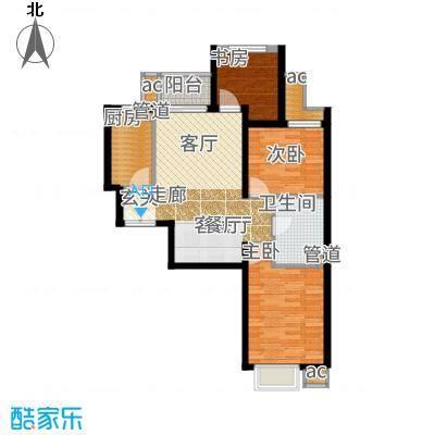首开国风美唐91.00㎡4号楼D1户型3室2厅