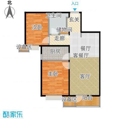 中粮万科长阳半岛89.00㎡F+户型2室2厅