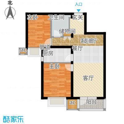 中粮万科长阳半岛89.00㎡F(五号地07地块)户型2室2厅