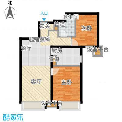 京投银泰万科西华府89.00㎡1号楼B1户型2室2厅