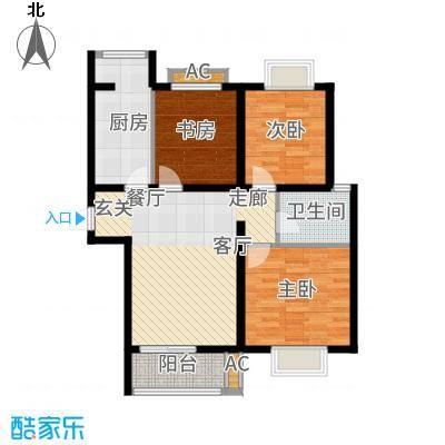 顺鑫·山语溪101.00㎡-N户型3室2厅