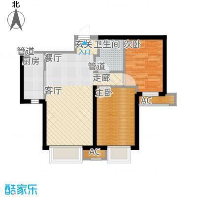 中国铁建·青秀尚城76.00㎡中国铁建青秀尚城6户型2室2厅