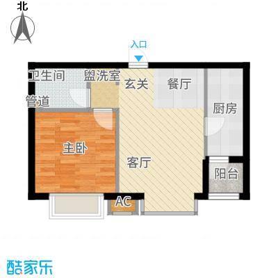 顺鑫·山语溪58.00㎡-H户型1室2厅