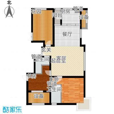 大苑·海淀名著115.18㎡一期E-甲户型3室2厅