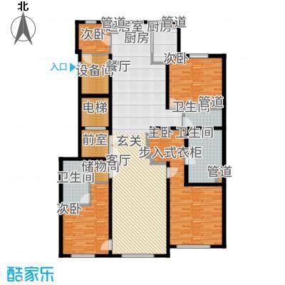 望京·金茂府218.00㎡7号楼F户型3室2厅