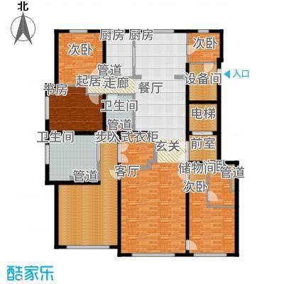 望京·金茂府272.00㎡7号楼E户型4室2厅