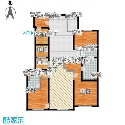 望京·金茂府220.00㎡6号楼D户型3室2厅