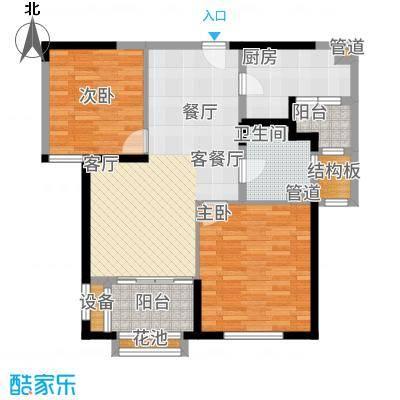 华润新江湾九里86.00㎡华润橡树湾5#f2户型2室2厅
