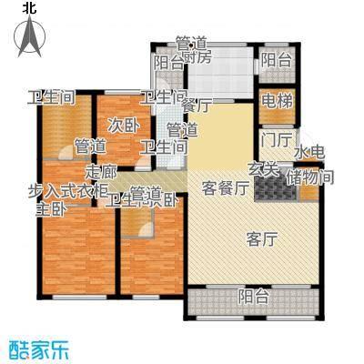 华润新江湾九里211.00㎡三居户型3室2厅
