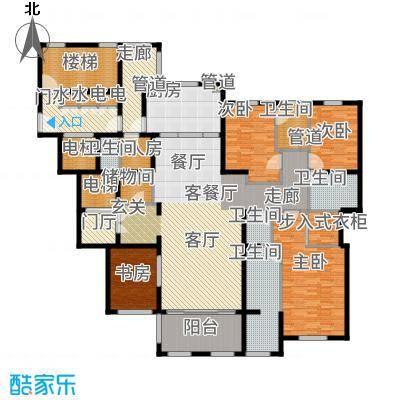 华润新江湾九里251.00㎡五居户型5室2厅