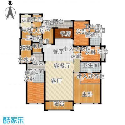 华润新江湾九里346.00㎡五居户型5室2厅