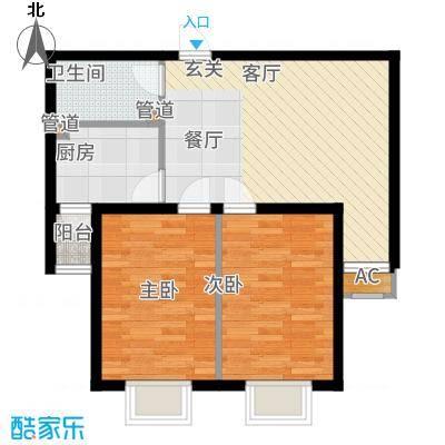 顺鑫·山语溪78.00㎡-J户型2室2厅