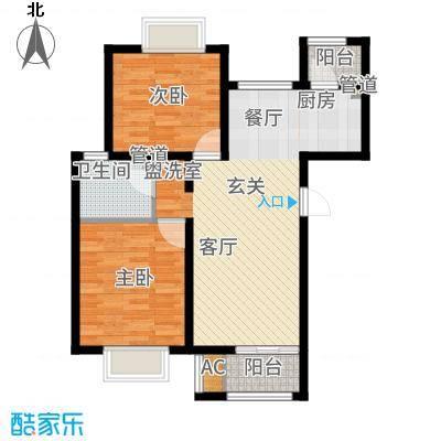 顺鑫·山语溪85.00㎡-K户型2室2厅