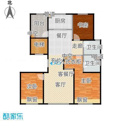 亦庄金茂悦132.00㎡8号楼金茂品质35居户型3室2厅