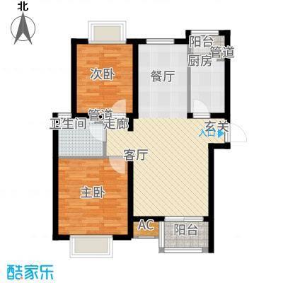 顺鑫·山语溪88.00㎡-L户型2室2厅