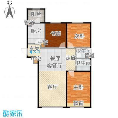 亦庄金茂悦113.00㎡2号楼D3户型3室2厅