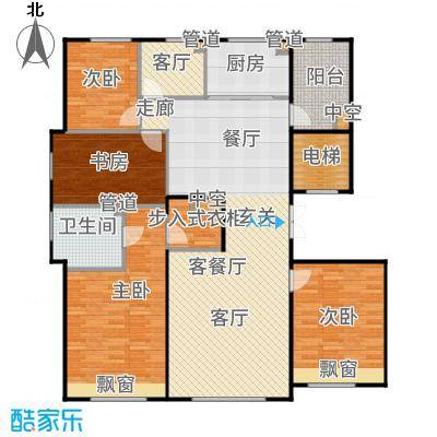 亦庄金茂悦167.00㎡8号楼四世同堂温馨45居户型4室2厅