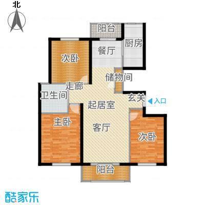 惠南小城130.00㎡A户型3室2厅