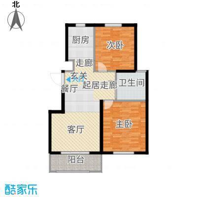 惠南小城90.00㎡B户型2室2厅