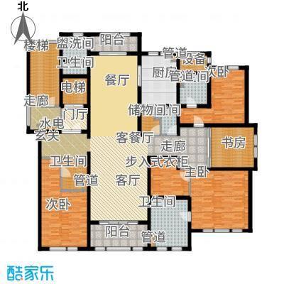 华润新江湾九里256.00㎡户型5室2厅