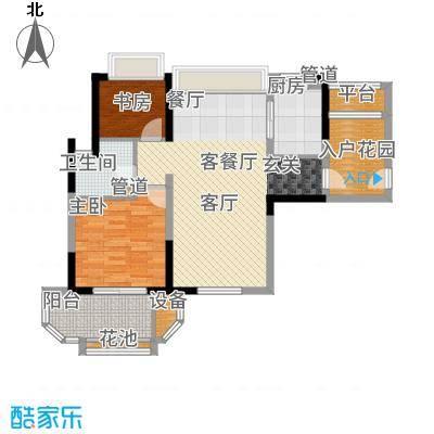 华润新江湾九里88.00㎡华润橡树湾5#f1户型2室2厅