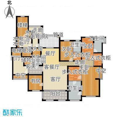 华润新江湾九里302.00㎡五居户型5室2厅