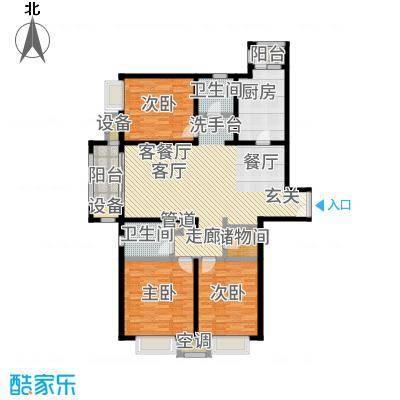 中海万锦城三期146.00㎡三期7#楼F1/F3户型3室2厅