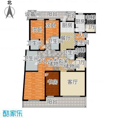 绿城黄浦湾303.00㎡三居户型3室2厅