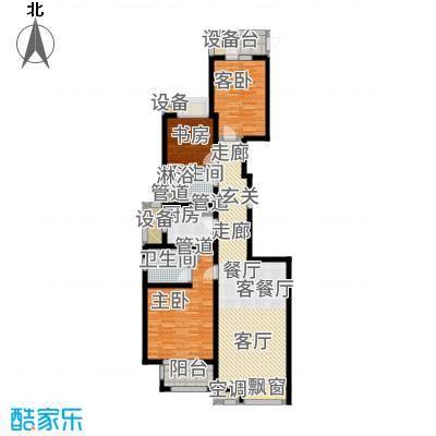中海万锦城三期138.00㎡三期G1户型3室2厅