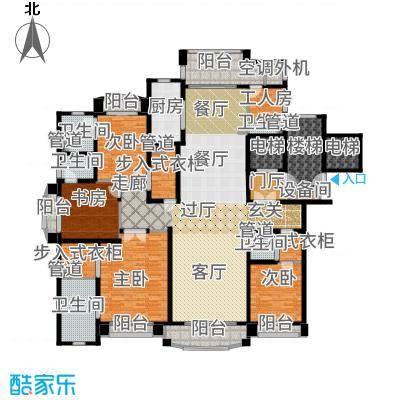 浦东星河湾289.00㎡A6户型4室3厅