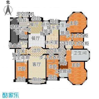 浦东星河湾486.00㎡A2户型5室3厅