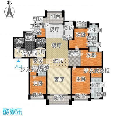 浦东星河湾300.00㎡A4户型4室3厅