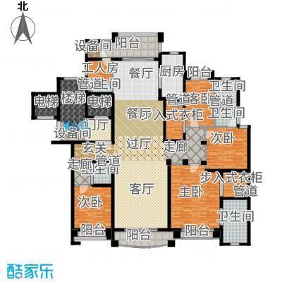 浦东星河湾281.00㎡A8户型4室3厅