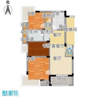 港城滴水湖馨苑87.00㎡b1户型3室2厅