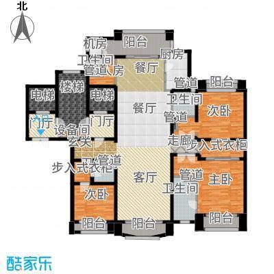 浦东星河湾219.00㎡B2户型3室3厅