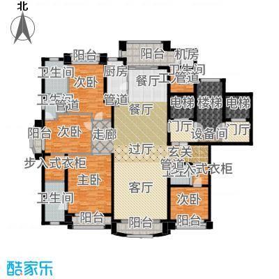 浦东星河湾245.00㎡B4户型4室3厅
