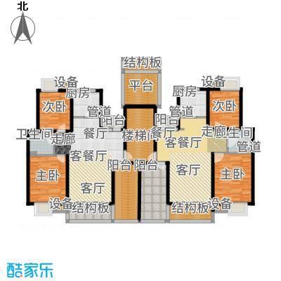 港城滴水湖馨苑88.00㎡C2二层户型2室2厅