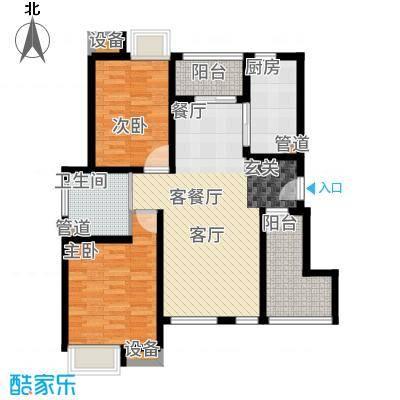 港城滴水湖馨苑87.18㎡B户型2室2厅
