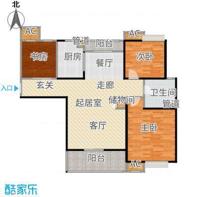 万业紫辰苑106.00㎡B3户型3室2厅