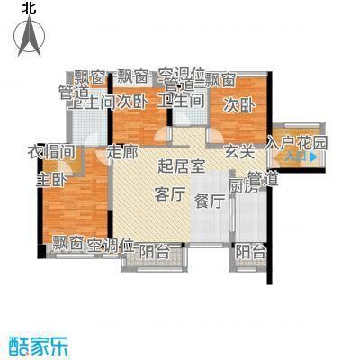 湛江万达广场121.00㎡B5户型