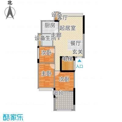 锦绣江南94.77㎡1幢5-17层06户型