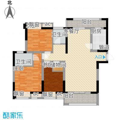 碧城云庭127.41㎡3号楼D3户型