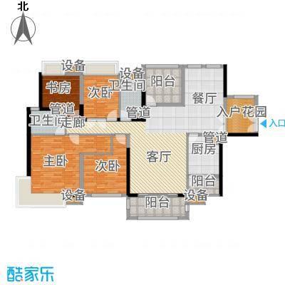 中信凯旋城别墅164.00㎡高层B2栋D-1户型