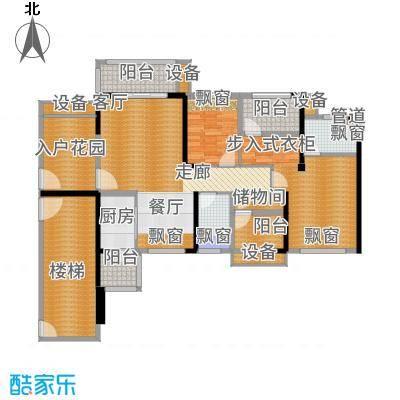 龙光海悦华庭110.76㎡2栋2单元02室户型