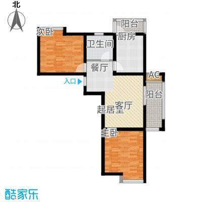 宇业书香名邸80.60㎡B(E1)户型