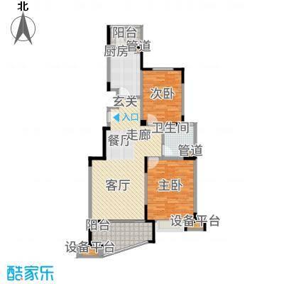 两淮融景苑91.82㎡A2户型