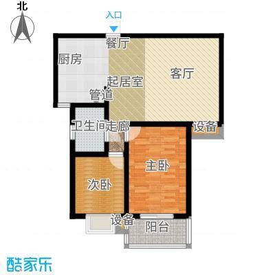 天泽水岸89.04㎡一期8#、9#楼G3户型
