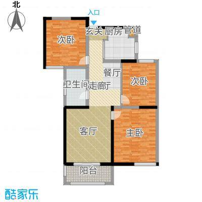 书香门第115.00㎡高层1-2户型